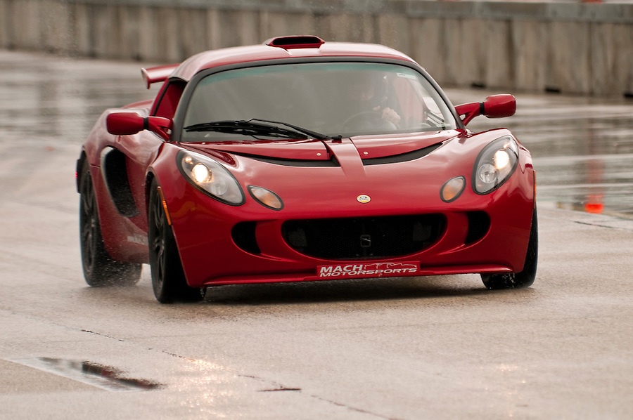 MIAMI - APRIL 18: Car from the Mach Motorsports team accelerates during a demonstration at FARA Races, April 18, 2010 in Miami, Florida. Editorial Use Only.