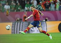 Football - Spain v Republic of Ireland - UEFA EURO 2012 Group C  - Arena Gdansk, Gdansk, Poland - 14/6/12..Fernando Torres scores the first goal for Spain..Mandatory Credit: Action Images / Tony O'Brien..Livepic