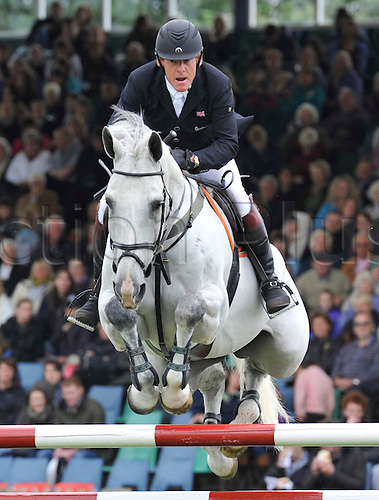 22.06.2013. The Bunn Leisure Derby Trophy. The British Jumping Derby from Hickstead, West Sussex, England. Tim Stockdale (GBR) riding Fresh Direct K2