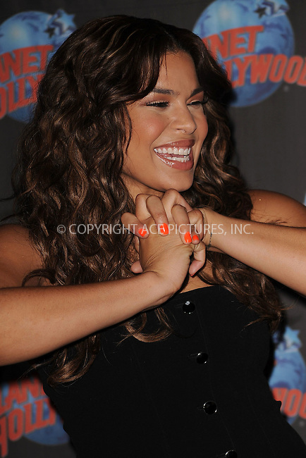 WWW.ACEPIXS.COM . . . . . ....July 21 2009, New York City....Singer and American Idol winner Jordin Sparks made hand prints at Planet Hollywood on July 21, 2009 in New York City.....Please byline: KRISTIN CALLAHAN - ACEPIXS.COM.. . . . . . ..Ace Pictures, Inc:  ..tel: (212) 243 8787 or (646) 769 0430..e-mail: info@acepixs.com..web: http://www.acepixs.com
