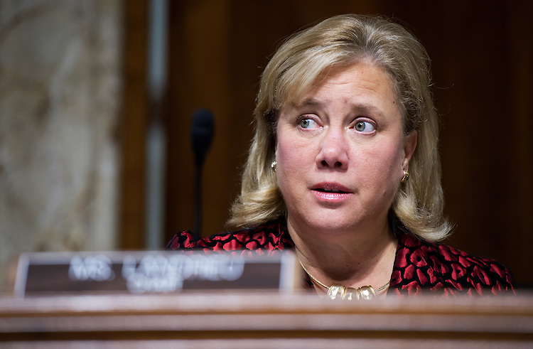 UNITED STATES - SEPTEMBER 11: Sen. Mary Landrieu, D-La., chair of the Senate Energy and Natural Resources Committee, oversees a markup in Dirksen on the nomination of Elizabeth Sherwood-Randall to be deputy Energy secretary, September 11, 2014. (Photo By Tom Williams/CQ Roll Call)