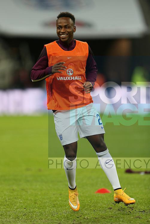 England's Saido Berahino warms up <br /> <br /> - International European Qualifier - England vs Slovenia- Wembley Stadium - London - England - 15th November 2014  - Picture David Klein/Sportimage
