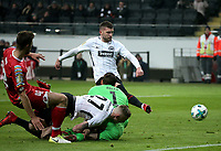 07.02.2018, Commerzbank Arena, Frankfurt, GER, DFB-Pokal, Eintracht Frankfurt vs FSV Mainz 05<br /> , <br />Ante Rebic (Frankfurt) scores goal  1:0 *** Local Caption *** © pixathlon<br /> Contact: +49-40-22 63 02 60 , info@pixathlon.de