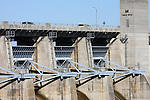 Cars driving over the top of Table Rock Dam Missouri