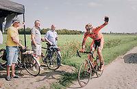 "in desperate need of a wheel...<br /> <br /> Antwerp Port Epic 2018 (formerly ""Schaal Sels"")<br /> One Day Race:  Antwerp > Antwerp (207 km; of which 32km are cobbles & 30km is gravel/off-road!)"
