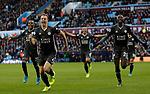 Jonny Evans of Leicester City celebrates scoring his goal against Aston Villa during the Premier League match at Villa Park, Birmingham. Picture date: 8th December 2019. Picture credit should read: Darren Staples/Sportimage