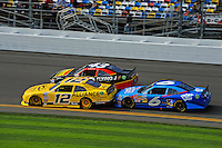 Sam Hornish, Jr. (#12), Michael Annett (#43) and Ricky Stenhouse, Jr. (#6)