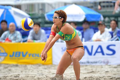 Satoko Urata , (JPN),.MAY 4, 2012 - Beach Volleyball : JBV Tour 2012 Sports Club NAS Open at Odaiba Beach, Tokyo, Japan. (Photo by Jun Tsukida/AFLO SPORT) [0003]