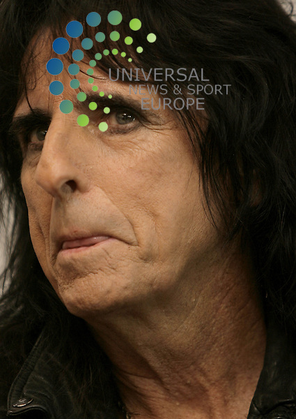 Musician Alice Cooper, June 15, 2009 speaks at a press conference in Rostov-on-Don Picture: Sergio Balloon Universal News & Sport (Europe)