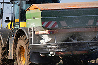 Applying Sulphur-N to oilseed rape <br /> &copy;Tim Scrivener Photographer 07850 303986<br />      ....Covering Agriculture In The UK....