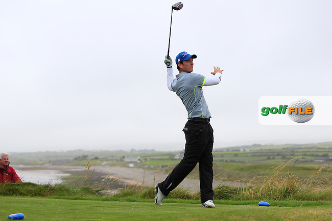 Colin Fairweather (Knock) on the 12th tee during the Final Round of the South of Ireland Amateur Open Championship at LaHinch Golf Club on Sunday 26th July 2015.<br /> Picture:  Golffile | Thos Caffrey