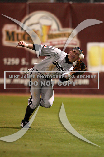 February 26, 2010:  Outfielder Josh Richmond of the Louisville Cardinals during a game at Dunedin Stadium in Dunedin, FL.  Photo By Mike Janes/Four Seam Images