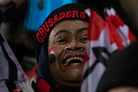 A Crusaders fan during the 2019 Super Rugby final between the Crusaders and Jaguares at Orangetheory Stadium in Christchurch, New Zealand on Saturday, 6 July 2019. Photo: Joe Johnson / lintottphoto.co.nz