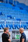 Trainer Markus Gisdol (1. FC Koeln) und Trainer Alfred Schreuder (Hoffenheim) vor dem Spiel im Gespraech.<br /> <br /> Sport: Fussball: 1. Bundesliga: Saison 19/20: 28. Spieltag: TSG 1899 Hoffenheim - 1. FC Koeln, 27.05.2020<br /> <br /> Foto: Markus Gilliar/GES/POOL/PIX-Sportfotos.<br /> <br /> Nur für journalistische Zwecke! Only for editorial use!<br /> <br /> Gemäß den Vorgaben der DFL Deutsche Fußball Liga ist es untersagt, in dem Stadion und/oder vom Spiel angefertigte Fotoaufnahmen in Form von Sequenzbildern und/oder videoähnlichen Fotostrecken zu verwerten bzw. verwerten zu lassen. DFL regulations prohibit any use of photographs as image sequences and/or quasi-video.