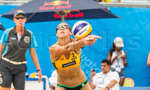 29.09.2015-04.10.2015 Fort Lauderdale, Florida, USA. Swatch Beach Volleyball Beach volleyball FIVB World Tour Finals 2015.  Kira Walkenhorst (GER)