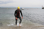"Ciaran McArdle at the Clogherhead ""Round the Head Swim""....(Photo credit should read Jenny Matthews/NEWSFILE)..."