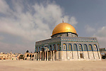 Jerusalem, Israel, Old City. The Dome of the Rock at Haram esh Sharif, the Noble Sanctuary<br />