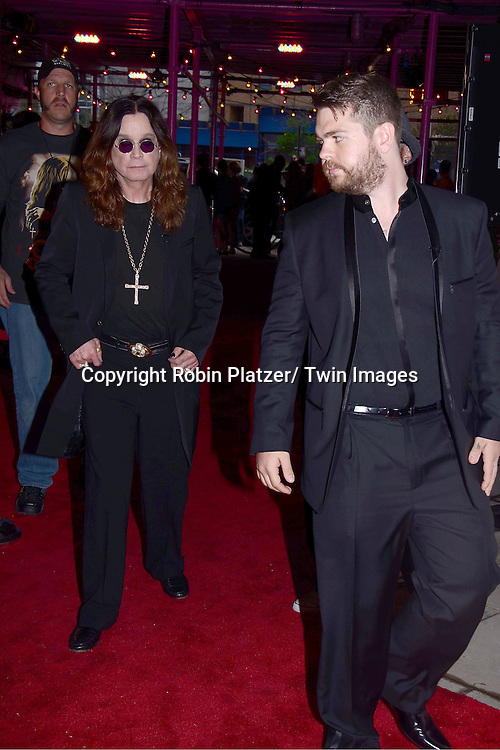 "Ozzy Osbourne and son Jack Osbourne attending the Tribeca Film Festival screening of.""God Bless Ozzy Osbourne"" on april 24, 2011 at The BMCC/TPAC in New York City."