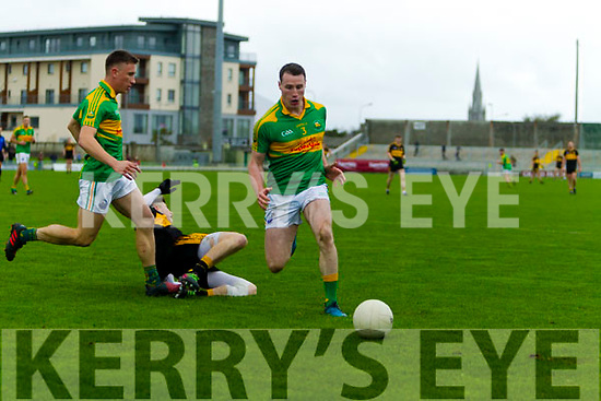 Dr Crokes in action against Michael Moloney  South Kerry in the Senior County Football Final in Austin Stack Park on Sunday