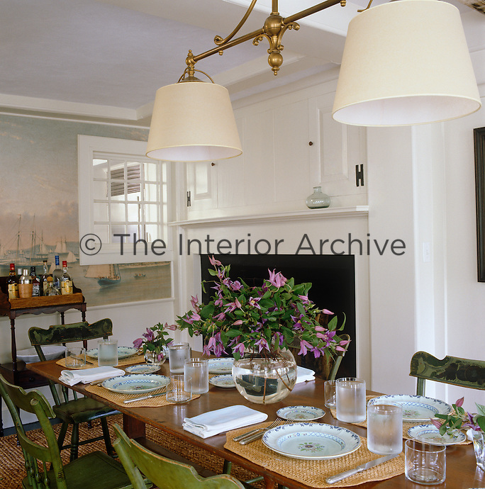 As a child Jacqueline Kennedy Onassis spent summers in this house, and the pine dining table belonged to her family