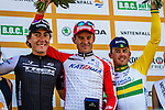 Podium: 1st Alexander Kristoff (NOR), 2nd Giacomo Nizzolo (ITA) and 3rd Simon Gerrans (AUS), Vattenfall Cyclassics, Hamburg, Germany, 24 August 2014, Photo by Thomas van Bracht