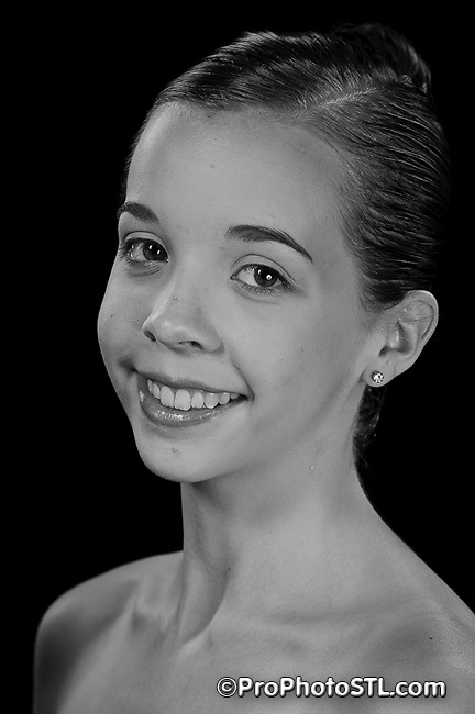 Missouri Ballet Theatre portraits in B&W