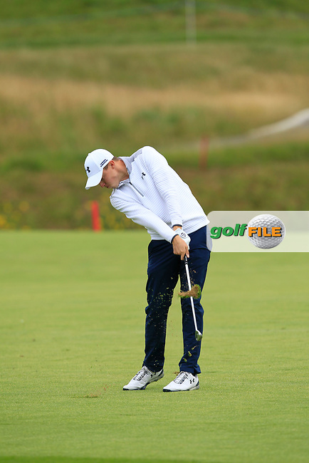 Matthew Fitzpatrick (ENG) on the 1st fairway during Round 2 of the HNA Open De France  at The Golf National on Friday 30th June 2017.<br /> Photo: Golffile / Thos Caffrey.<br /> <br /> All photo usage must carry mandatory copyright credit      (&copy; Golffile | Thos Caffrey)