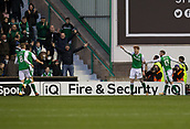 4th November 2017, Easter Road, Edinburgh, Scotland; Scottish Premiership football, Hibernian versus Dundee; Hibernian's Simon Murray celebrates after scoring for 2-1