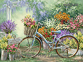 Dona Gelsinger, STILL LIFE STILLLEBEN, NATURALEZA MORTA, paintings+++++,USGE1558,#I# #161# bicycle