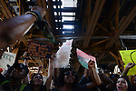 Demonstrators on Lake Street under the El in support a Citizens Police Accountability Council to provide civilian oversight of the Chicago Police Department in Chicago, Illinois on July 11, 2016.  The demonstration attracted a larger crowd on the heels of last week's racially charged police shootings captured on video of Alton Sterling in Baton Rouge, Louisiana and Philando Castile in the St. Paul suburb of Falcon Heights, Minnesota which was followed by a mass shooting of five police officers by Afghan War veteran Micah Johnson who supported radical and violent black nationalist ideology.