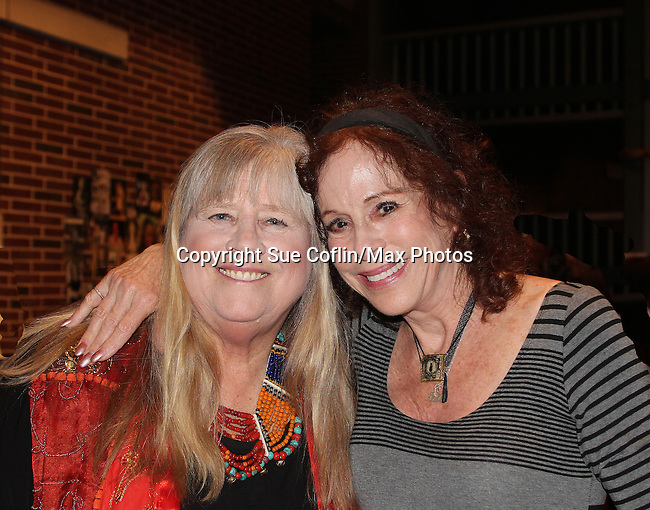 """Louise Sorel (Days of Our Lives & Santa Barbara) and Heather Mac Rae (daughter of Gordon and Sheila Mac Rae and was on One Life To Live) star in """"I Remember Mama"""" on June 10, 2016 (opening night) at Two River Theatre, Red Bank, New Jersey which follows a successful sold out run in New York City, New York. (Photo by Sue Coflin/Max Photos)"""