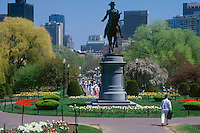 Public Garden, springtime, Washington statue, Boston, MA