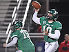Tommy Donovan #10, Farmingdale quarterback, throws a pass for a touchdown during the Nassau County varsity football Conference I final against Freeport at Hofstra University on Thursday, Nov. 17, 2016.