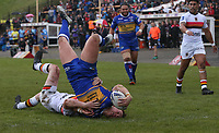 Leeds Rhinos' Callum McLellan scores his side's second try <br /> <br /> Photographer Stephen White/CameraSport<br /> <br /> Rugby League - Coral Challenge Cup Sixth Round - Bradford Bulls v Leeds Rhinos - Saturday 11th May 2019 - Provident Stadium - Bradford<br /> <br /> World Copyright &copy; 2019 CameraSport. All rights reserved. 43 Linden Ave. Countesthorpe. Leicester. England. LE8 5PG - Tel: +44 (0 116 277 4147 - admin@camerasport.com - www.camerasport.com