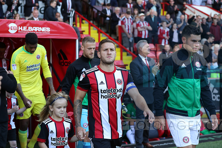 Billy Sharp of Sheffield Utd during the English championship league match at Bramall Lane Stadium, Sheffield. Picture date 5th August 2017. Picture credit should read: Jamie Tyerman/Sportimage