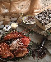 Cuisine/Gastronomie Generale: Plateau de Fruits de mer, crustacés coquillages et huitres