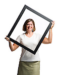 Rebecca Cleary holds a picture frame in Oxford, Miss. on Tuesday, August 30, 2011.