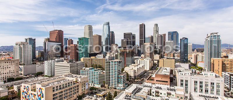 Los Angeles Financial District Skyline