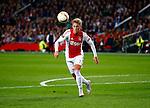 Nederland, Amsterdam, 5 november 2015<br /> Europa League<br /> Seizoen 2015-2016<br /> Ajax-Fenerbahce (0-0)<br /> Viktor Fischer van Ajax in actie met bal