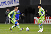 Freddie Ljungberg, Fredy Montero #17...Kansas City Wizards were defeated 3-2 by Seattle Sounders at Community America Ballpark, Kansas City, Kansas.