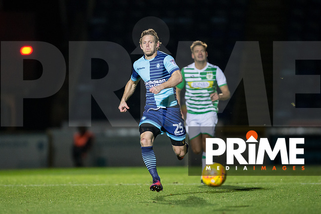 Craig Mackail-Smith of Wycombe Wanderers during the Sky Bet League 2 match between Wycombe Wanderers and Yeovil Town at Adams Park, High Wycombe, England on 25 November 2017. Photo by Andy Rowland.