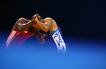 GUADALAJARA, MEXICO - OCTOBER 21:  Raul Angulo of Columbia grapples with Randy Lambert of Honduras in the Men's Greco-Roman 96kg Semifinal during Day Six of the XVI Pan American Games at the Code II Sports Complex on October 21, 2011 in Guadalajara, Mexico.  (Photo by Donald Miralle for Mexsport) *** Local Caption ***