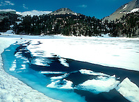 759450001 ice formations on lake helen in lassen volcanic national park california