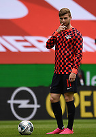 24th May 2020, Opel Arena, Mainz, Rhineland-Palatinate, Germany; Bundesliga football; Mainz 05 versus RB Leipzig;  Timo Werner (RB Leipzig) during the warm ups