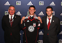 Chris Kolb with D.C. United coach Ben Olsen and Dave Kasper at the 2011 MLS Superdraft, in Baltimore, Maryland on January 13, 2010.