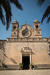 Palms at the entrance, Bonany Monastery, Mallorca