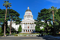 The California State Capitol Building from the street.