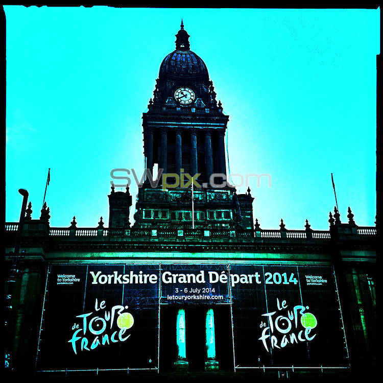 PICTURE BY VAUGHN RIDLEY/SWPIX.COM - Cycling - Tour de France - Yorkshire Grand Depart 2014 Launch - Town Hall, Leeds, England - 16/01/13 - The Leeds Town Hall is ready to host the launch press conference and the La Nuit du Tour show.