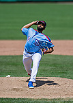 23 June 2019: New Hampshire Fisher Cats starting pitcher Hector Perez on the mound against the Trenton Thunder at Northeast Delta Dental Stadium in Manchester, NH. The Thunder defeated the Fisher Cats 5-2 in Eastern League play. Mandatory Credit: Ed Wolfstein Photo *** RAW (NEF) Image File Available ***