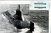 "United States Department of Defense released its 1985 assessment of Soviet Military Power at the Pentagon in Washington, DC on April 2, 1985.  The release stated ""the drawing at right helps to place the enormous hull size of the TYPHOON-Class strategic nuclear-powered ballistic missile submarine (SSBN) in perspective.""<br /> Credit: Department of Defense via CNP"